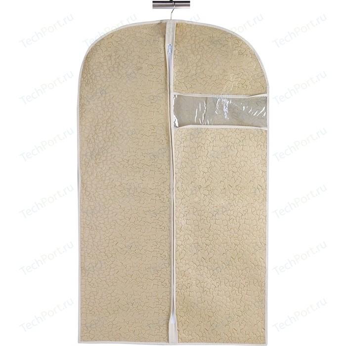 Чехол для одежды Handy Home Геометрия, Д1000 Ш600, бежевый, соломенный