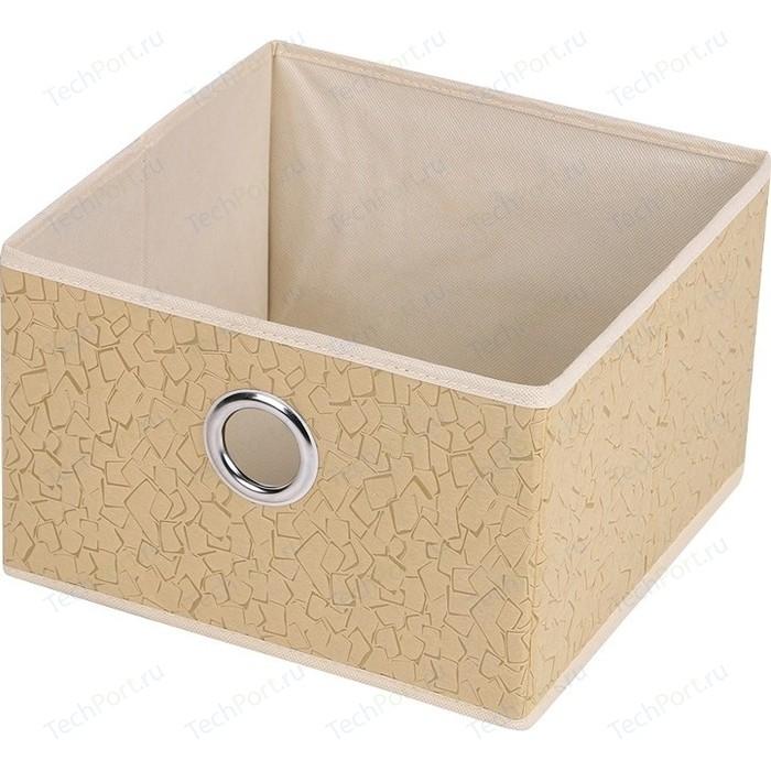 Короб для хранения Handy Home Геометрия, Д280 Ш280 В180, бежевый, соломенный