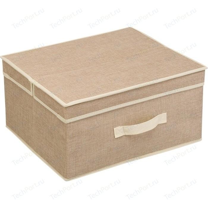 Короб для хранения Handy Home Лен Д410 Ш350 В200, песочный корзина бельевая handy home решетка д410 ш290 в300 белый