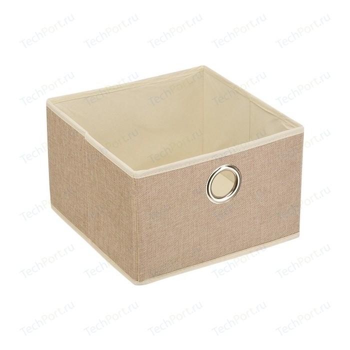 Короб для хранения Handy Home Лен Д280 Ш280 В180, песочный
