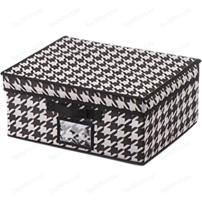 Короб для хранения Handy Home Пепита, Д330 Ш280 В150, черно-белый