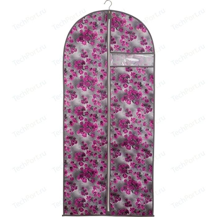 Чехол для одежды Handy Home Роза, Д1350 Ш600, розово-серый
