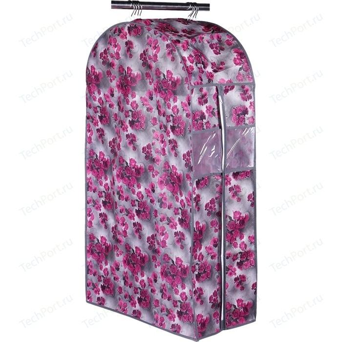 Кофр Handy Home подвесной для одежды Роза, Д1000 Ш600 В300, розово-серый