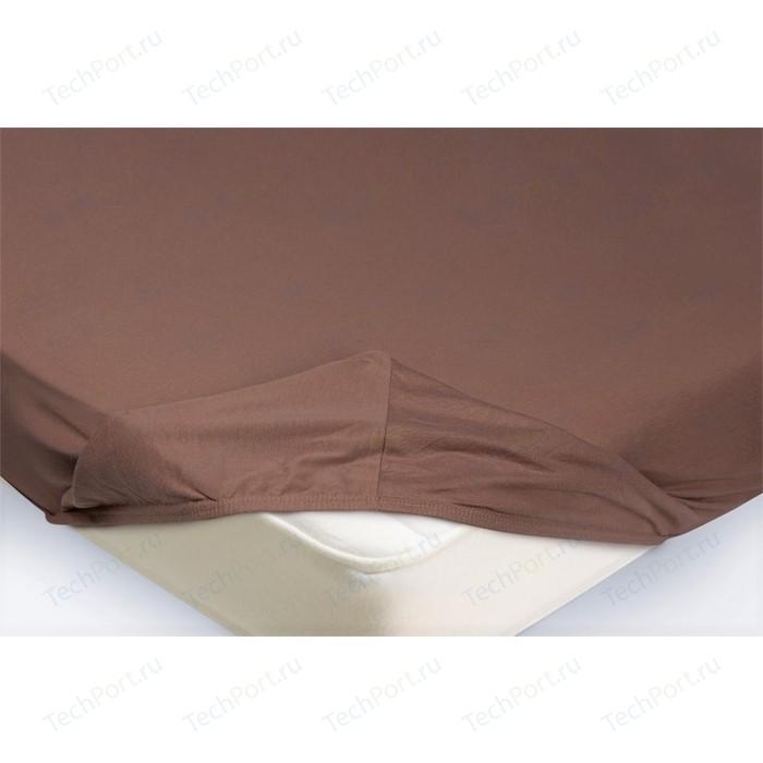 Простынь на резинке Ecotex 160x200, светло-коричневый (4650074959108)