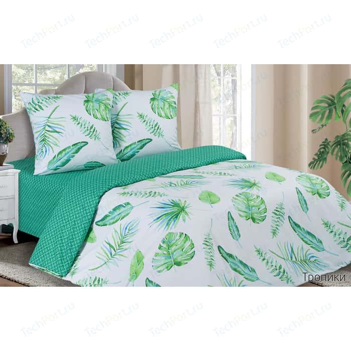 Комплект постельного белья Ecotex семейный, поплин, Поэтика Тропики (4660054340383)