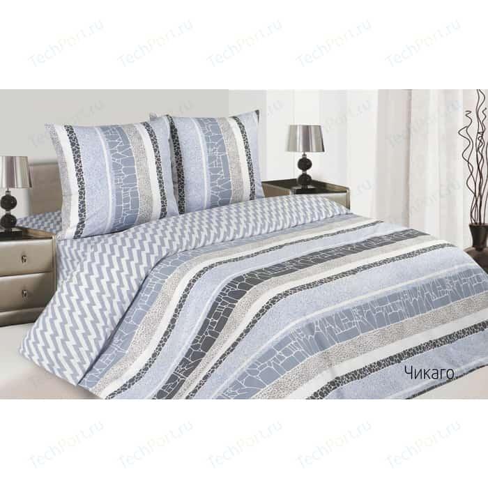 Комплект постельного белья Ecotex семейный, поплин, Поэтика Чикаго (4660054340321)