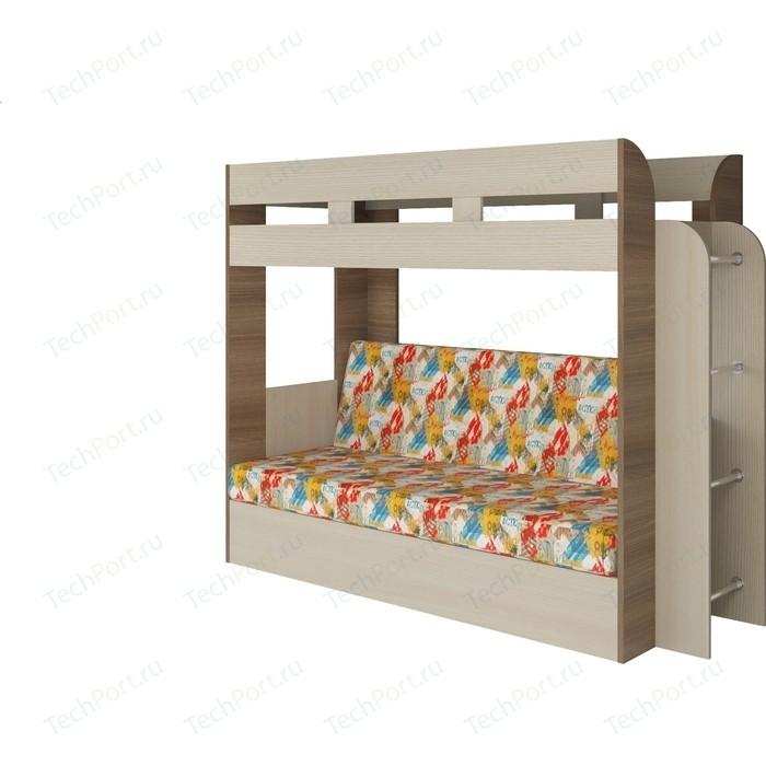 Кровать Атлант Карамель 75 АРТ ясень шимо светлый, ясень шимо темный кровать атлант карамель 75 top gear 03 brown ясень шимо светлый ясень шимо темный