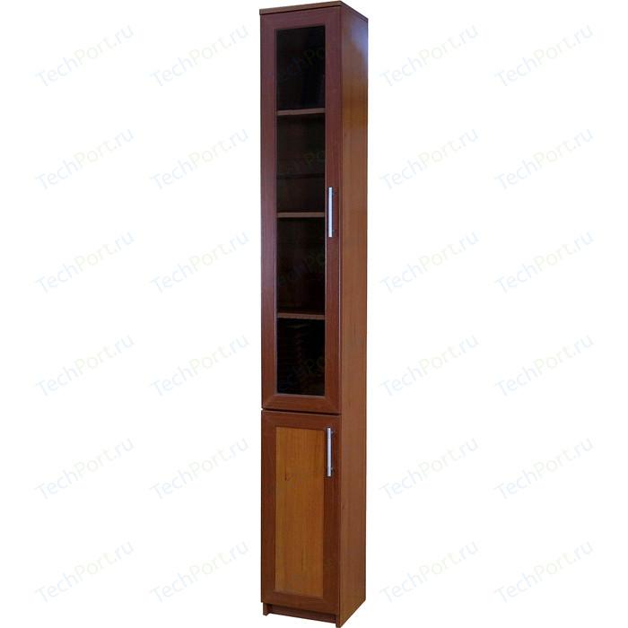 Книжный шкаф Гамма Симфония-2 30х30х220 орех мегаэлатон обувной шкаф мегаэлатон бона 2 орех km8x5va