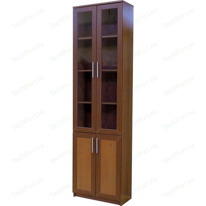 Книжный шкаф Гамма Симфония-2 60х30х220 орех мегаэлатон обувной шкаф мегаэлатон бона 2 орех km8x5va