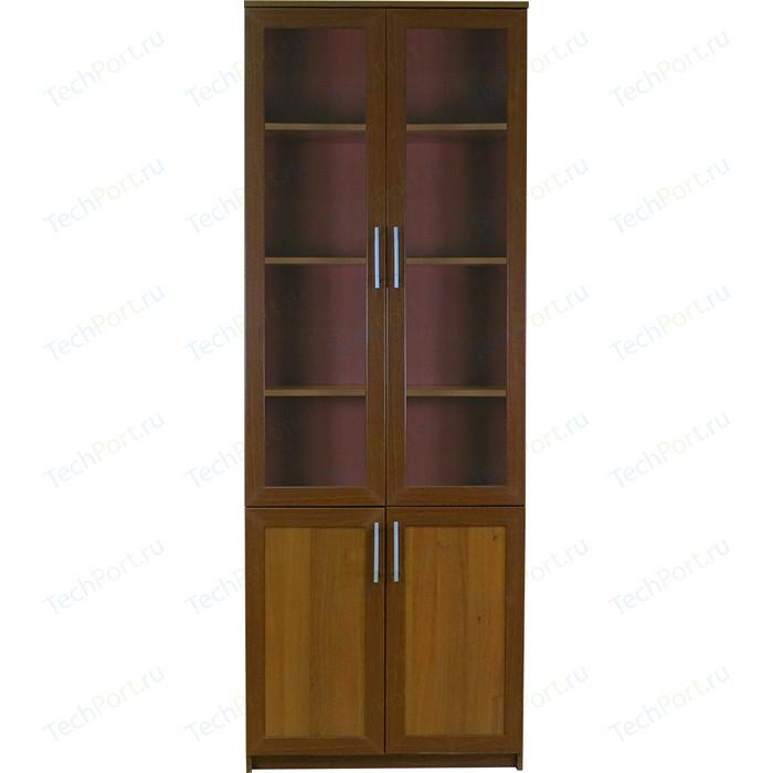Книжный шкаф Гамма Симфония-2 80х30х220 орех мегаэлатон обувной шкаф мегаэлатон бона 2 орех km8x5va