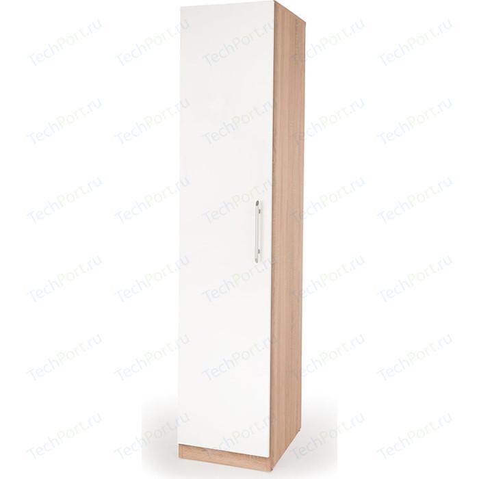 Шкаф пенал Гамма Шарм 40х45 дуб сонома+белый