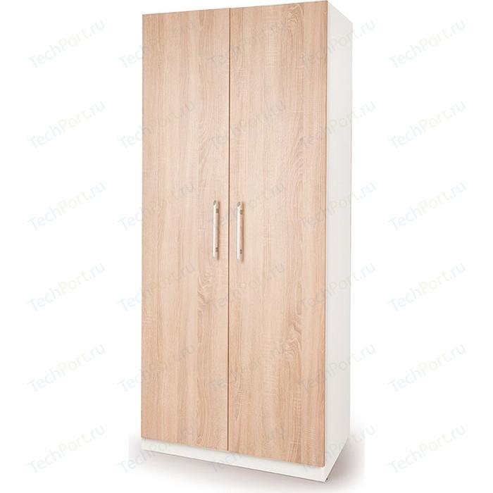 Шкаф распашной Гамма Шарм 80х45 белый+дуб сонома шкаф для одежды гамма шарм 90х60 дуб сонома