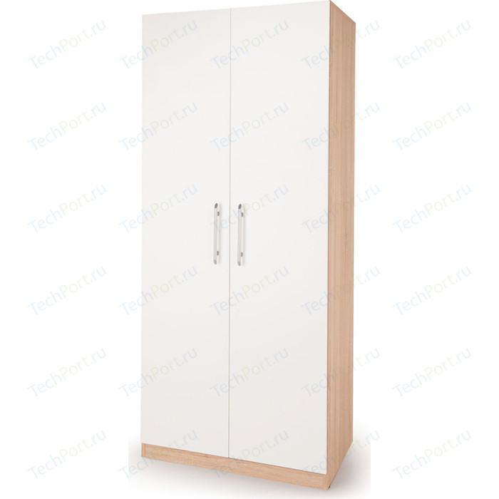 Шкаф для одежды Гамма Шарм 90х60 дуб сонома+белый шкаф для одежды гамма шарм 70х60 дуб сонома