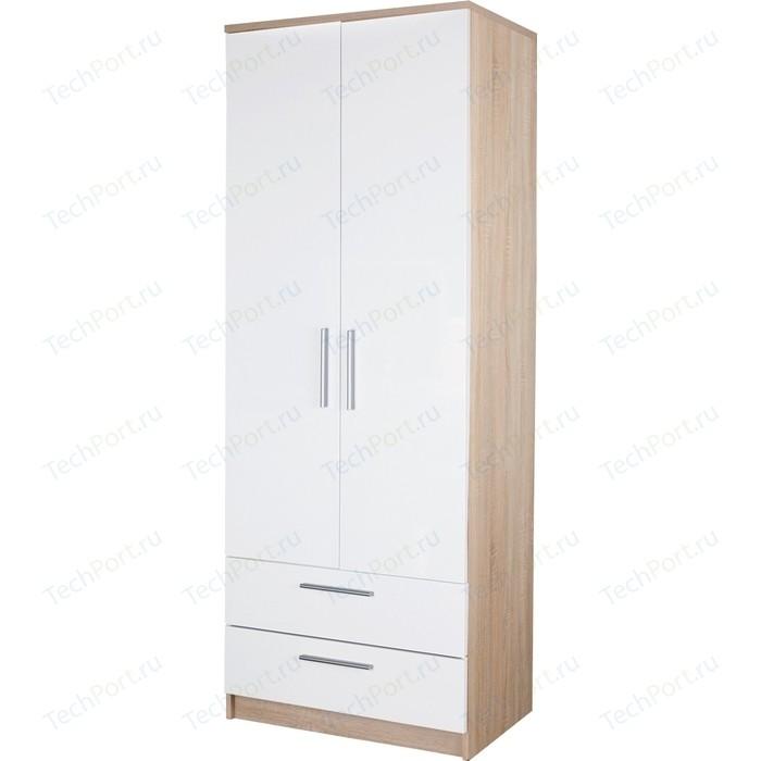 Шкаф с ящиками Гамма Соло 80х60 дуб сонома+белый