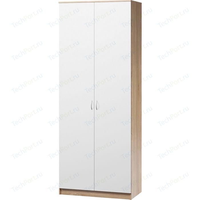 Шкаф комбинированный Гамма Евро лайт 90х60 дуб сонома+белый шкаф для одежды гамма шарм 90х60 дуб сонома