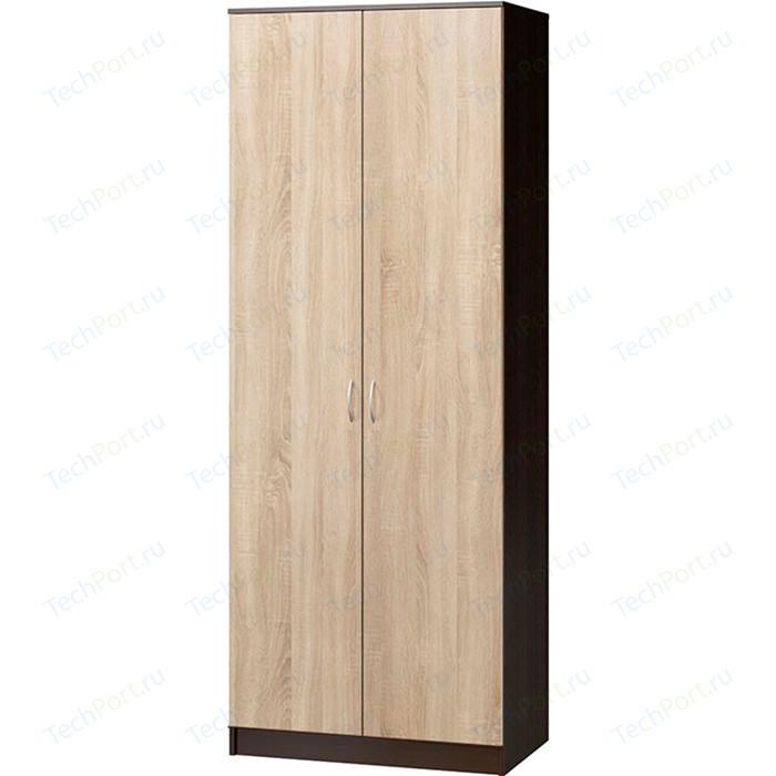 Шкаф комбинированный Гамма Евро лайт 90х60 венге+дуб сонома шкаф для одежды гамма шарм 90х60 дуб сонома