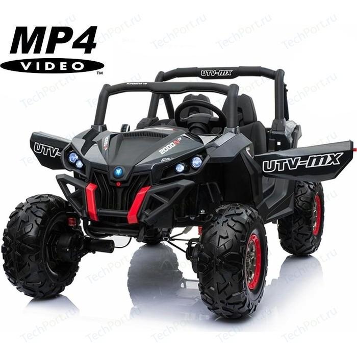 Двухместный полноприводный электромобиль XMX Black Carbon UTV-MX Buggy 12V MP4 - XMX603-BLACK-PAINT-MP4