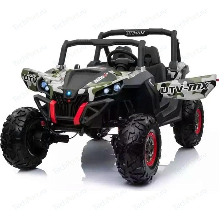 Двухместный полноприводный электромобиль XMX Camouflage UTV-MX Buggy 12V - XMX603-GREEN-PAINT