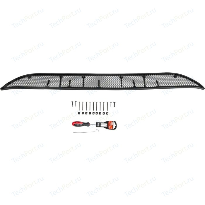 Защитная решетка радиатора Rival для Kia Rio седан (2015-2017), алюминий, RR.2801.1