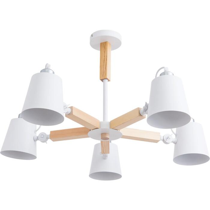 Фото - Потолочная люстра Arte Lamp A7141PL-5WH люстра потолочная arte lamp gelo a6001pl 9bk