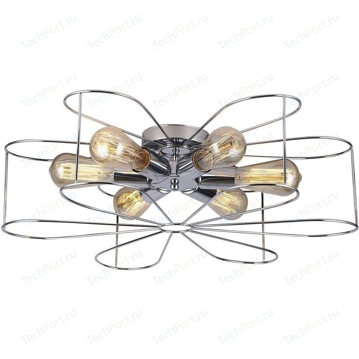 Потолочная люстра Arte Lamp A6049PL-6CC люстра arte lamp camomilla a6049pl 6wh e27 240 вт