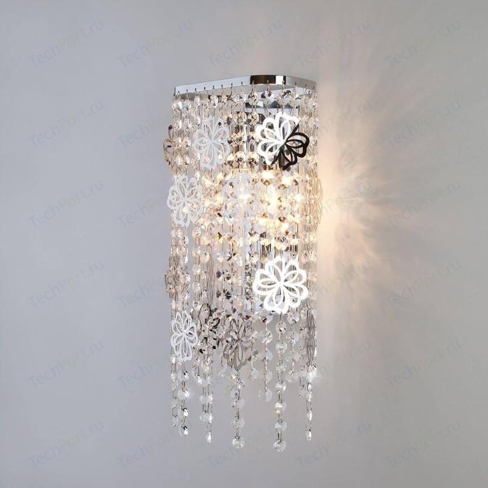 Настенный светильник Eurosvet 10083/2 хром/прозрачный хрусталь Strotskis