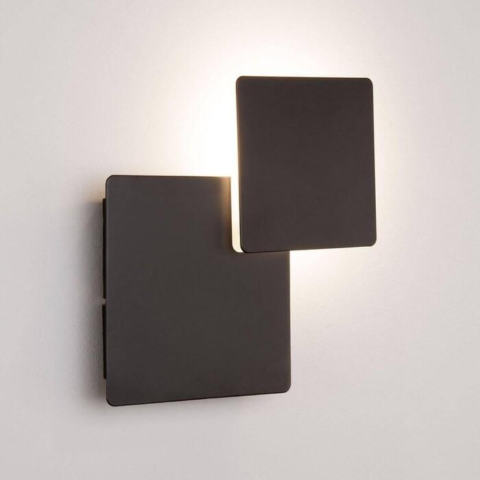 Настенный светодиодный светильник Eurosvet 40136/1 черный светильник настенный eurosvet screw 40136 1 6w белый