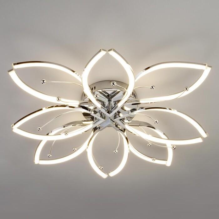 Потолочная светодиодная люстра Eurosvet 90092/8 хром потолочная люстра eurosvet tessa 60088 8 хром