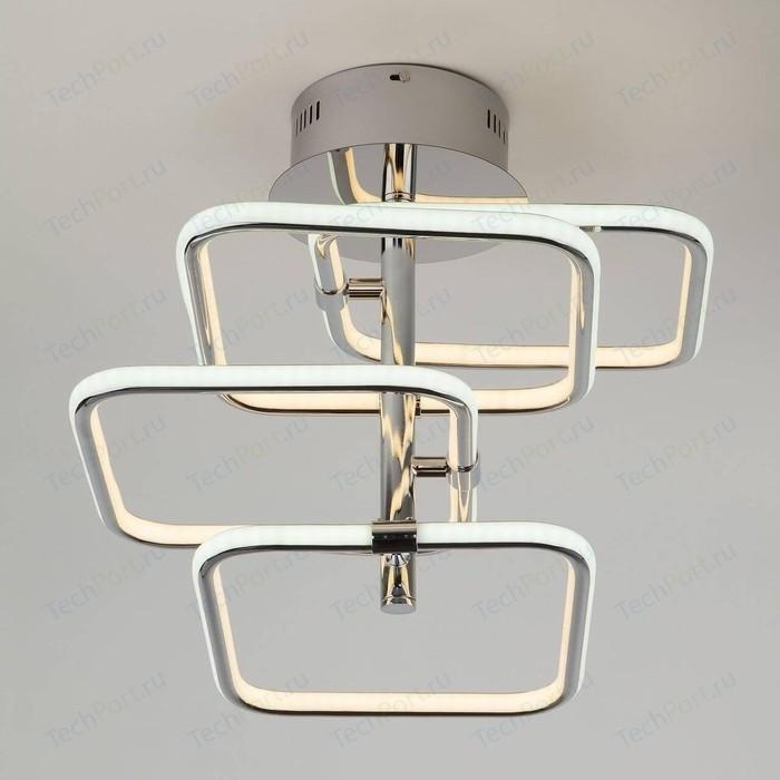 Потолочная светодиодная люстра Eurosvet 90067/4 хром