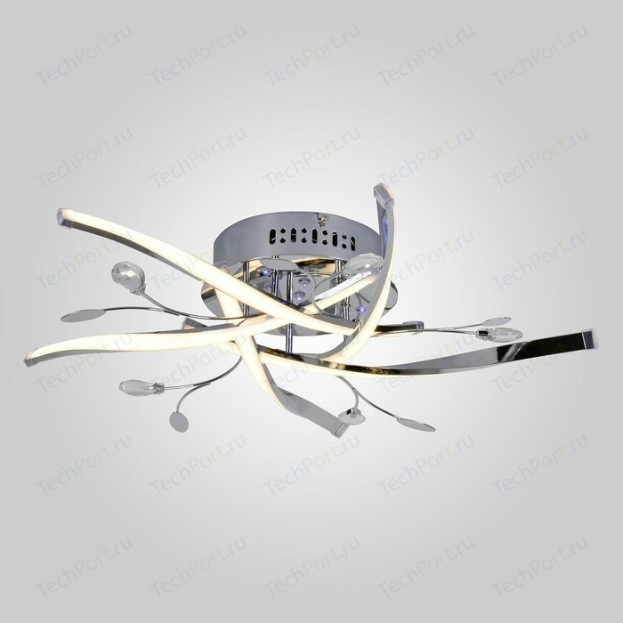 Потолочная светодиодная люстра Eurosvet 90126/5 хром