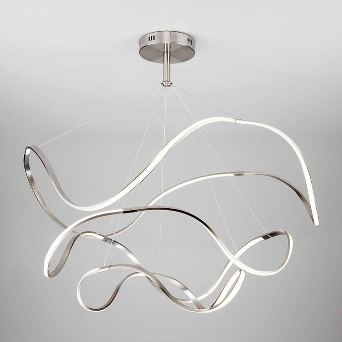 Подвесной светодиодный светильник Eurosvet 90109/3 сатин-никель
