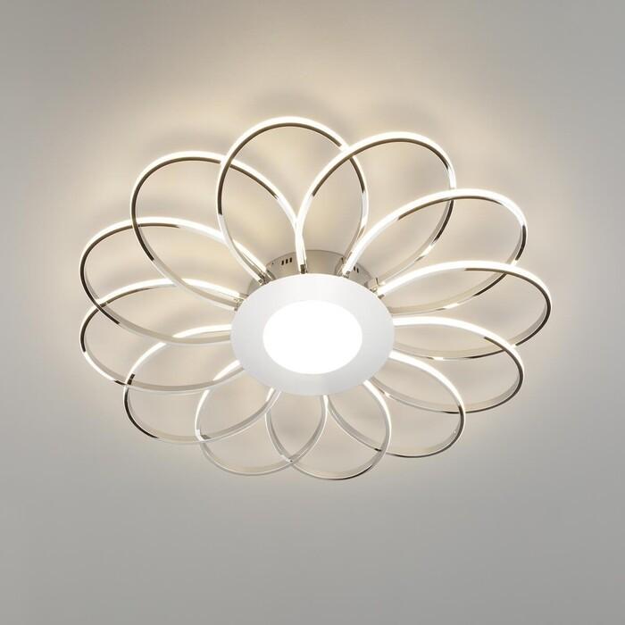 Потолочный светодиодный светильник Eurosvet 90105/13 хром