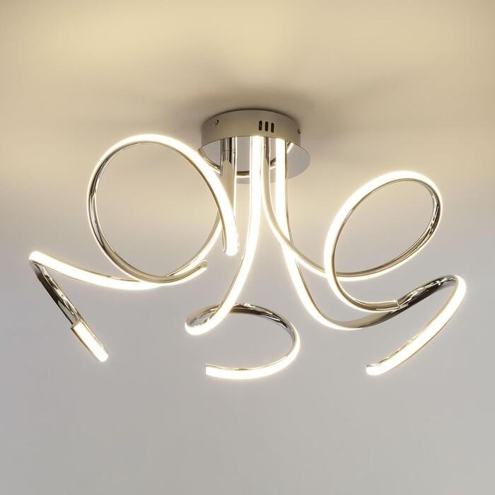 Потолочный светодиодный светильник Eurosvet 90068/5 хром