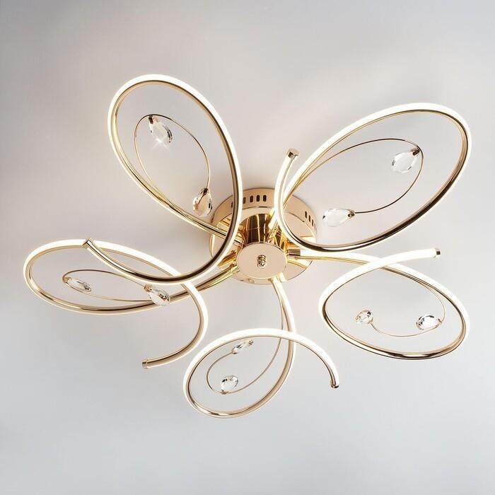 Потолочный светодиодный светильник Eurosvet 90099/5 золото