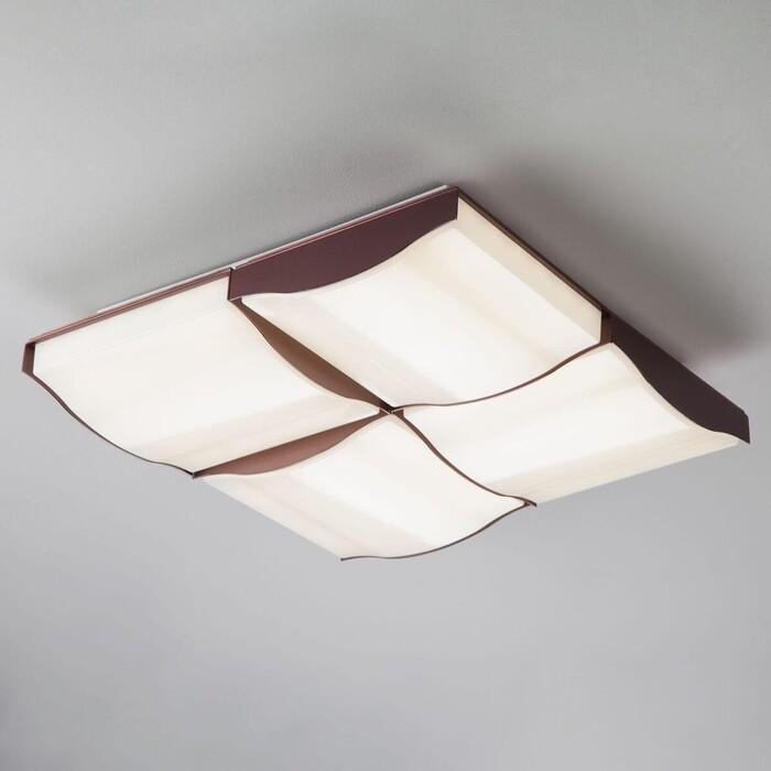 Потолочный светодиодный светильник Eurosvet 90031/4 кофе