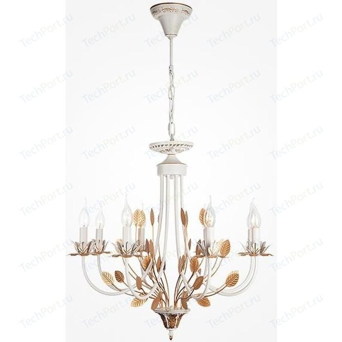 Подвесная люстра Eurosvet 60023/8 белый с золотом настольная лампа eurosvet 01002 1 белый с золотом