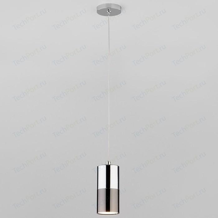 Подвесной светильник Eurosvet 50146/1 хром/черный жемчуг