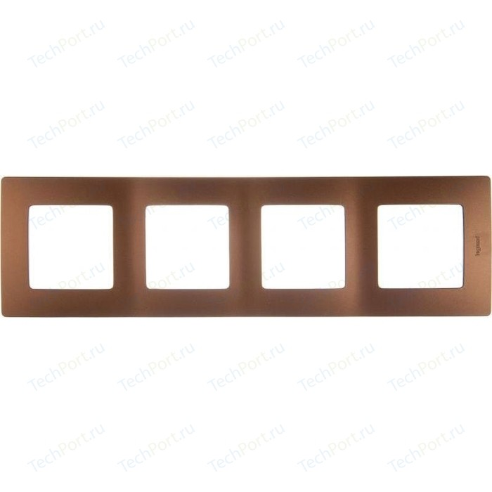 Рамка Legrand на 4 поста Etika какао (672574)