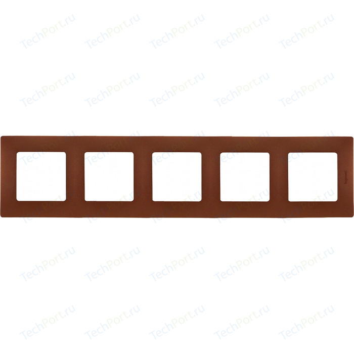 Рамка Legrand на 5 постов Etika какао (672575)