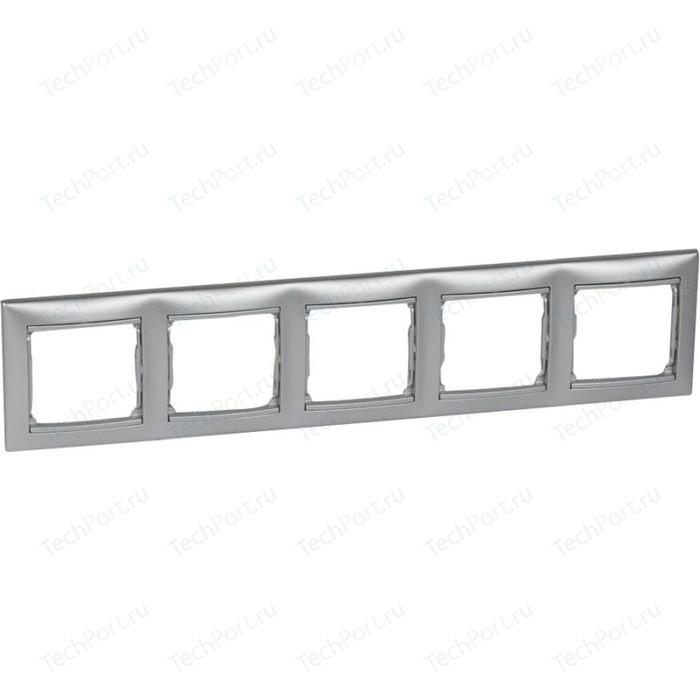 Рамка Legrand на 5 постов Valena горизонтальная алюминий (770155)