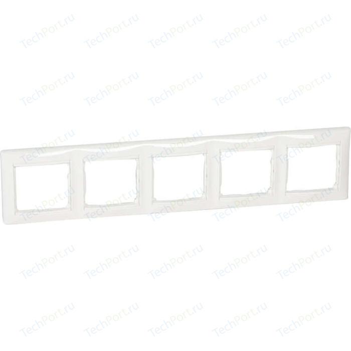 Рамка Legrand на 5 постов Valena горизонтальная белая (774455)