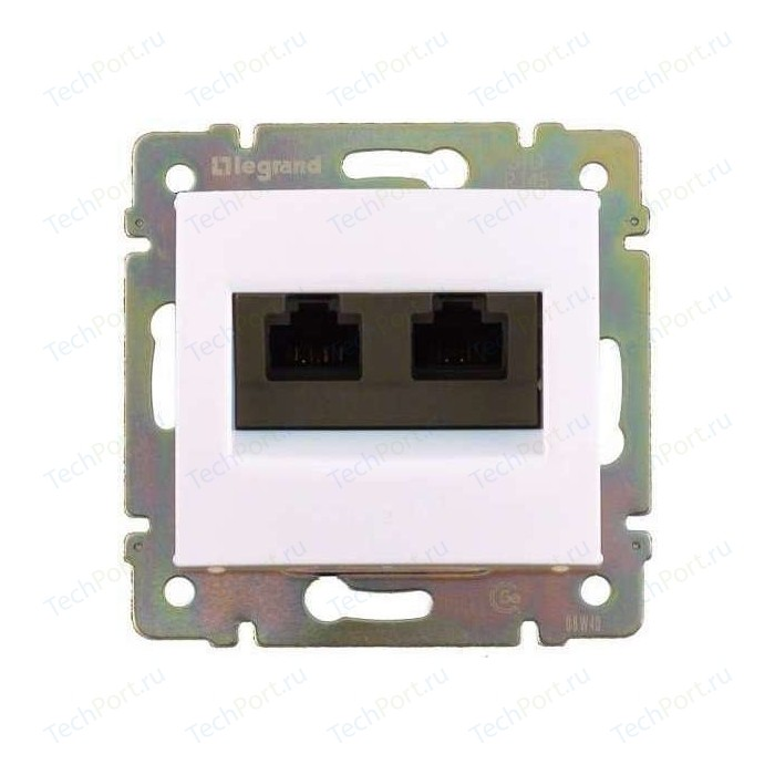 Розетка информационная Legrand двойная СП Valena RJ45 + CAT.5 Е UTP белая (774231)