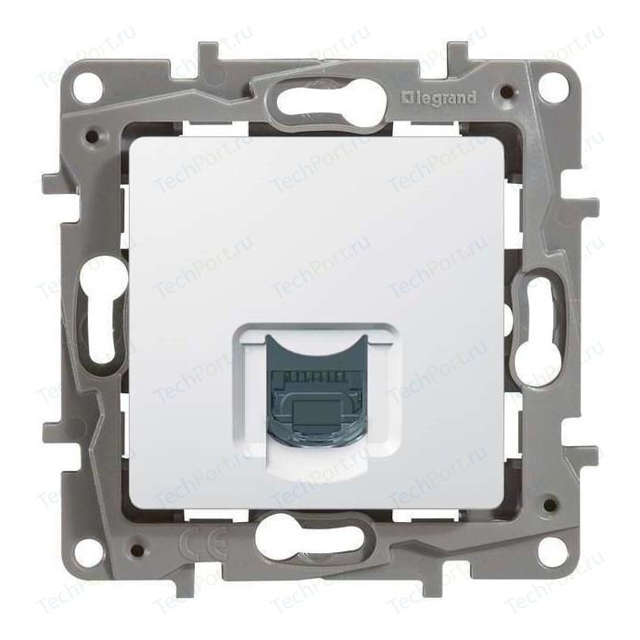 Розетка информационная Legrand СП Etika RJ45 CAT.5 UTP белая (672241)