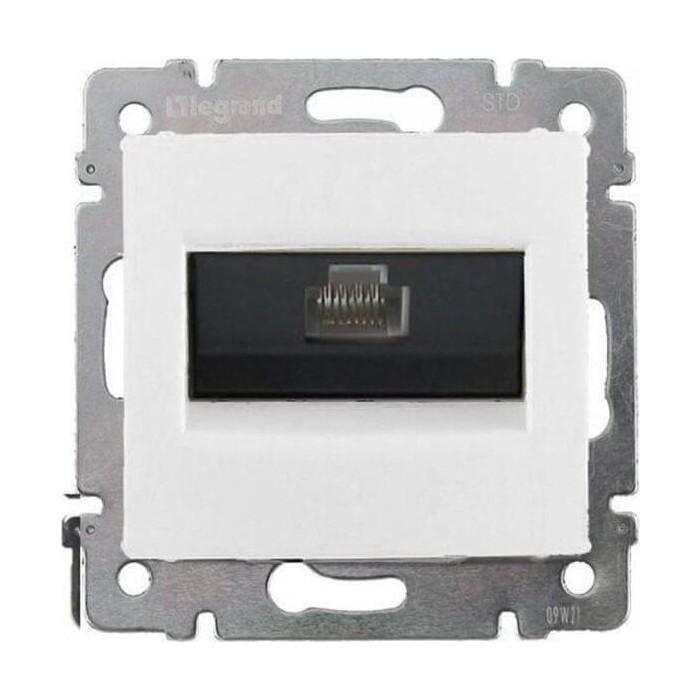 Розетка информационная Legrand СП Valena RJ45-ISDN / интернет белая (774441)