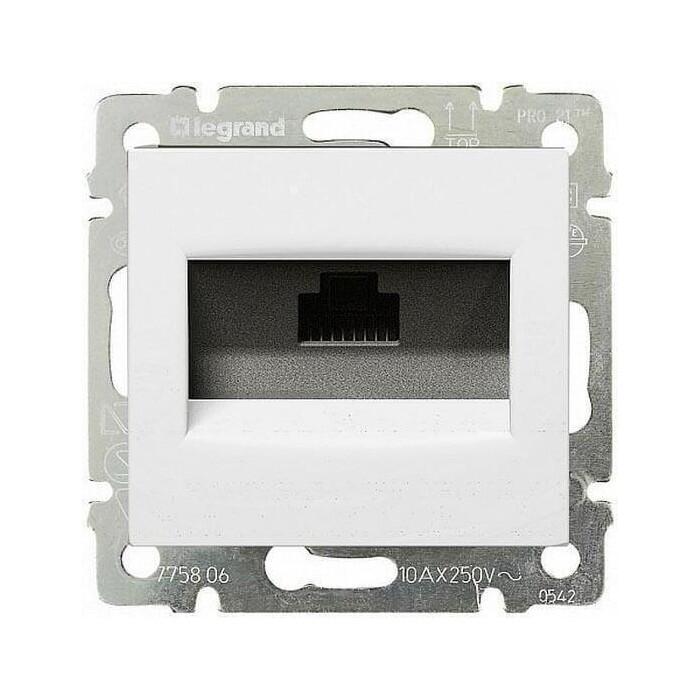 Розетка информационная Legrand СП Valena RJ45 5E UTP белая (774230)