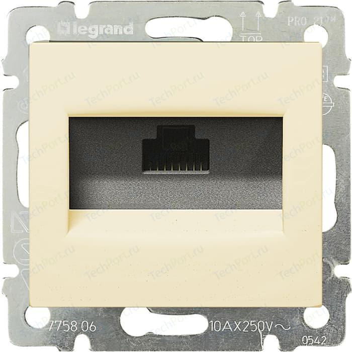 Розетка информационная Legrand СП Valena RJ45-ISDN / интернет слоновая кость (774341)