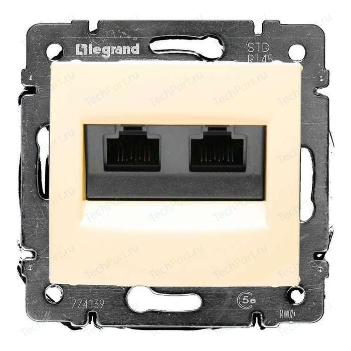 Розетка компьютерная Legrand двойная СП Valena RJ45 + CAT.5E UTP слоновая кость (774139)