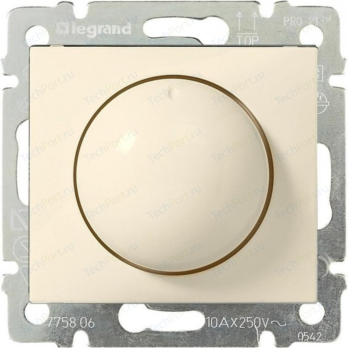 Диммер поворотный Legrand СП Valena 400Вт слоновая кость (774161)