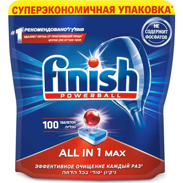 Таблетки для посудомоечной машины (ПММ) Finish All in1 Max 100 шт