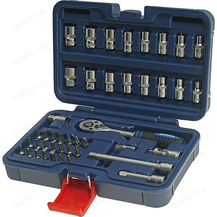 Набор торцевых головок KORUDA 1/4DR 44 предметов (KR-2044) набор торцевых головок koruda 25 предм kr 4025 серебристый